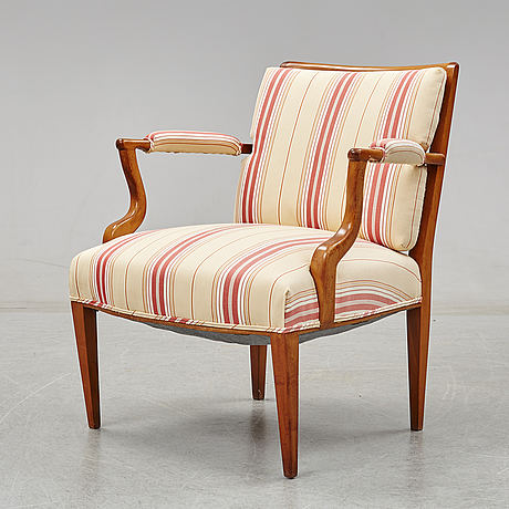 Josef frank, a model 969 armchair for svenskt tenn.