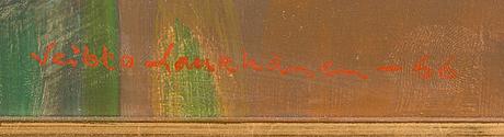 Veikko laukkanen, olja på pannå, signerad och daterad-66.