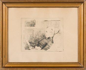 Albert Edelfelt, etching, plate signed.