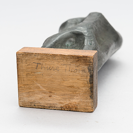 Thure thörn, a bronze sculpture, signed and dated -54.
