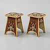 A pair of early 20th century stools.