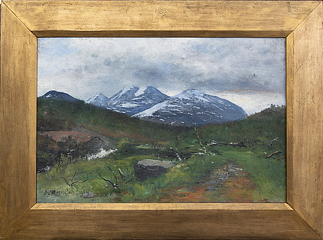 Olof hermelin, oil on canvas signed and dated 1909.