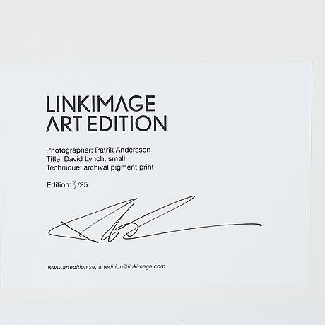 Patrik andersson, photograph signed on label verso, edition 3/25.