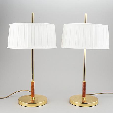 Bordslampor, ett par, örsjö industri, 2000-tal.