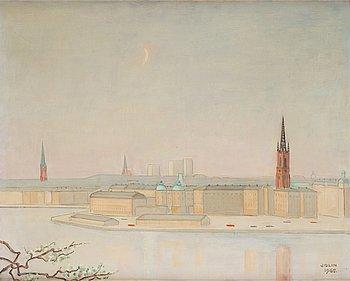 713. Einar Jolin, Vy över Stockholm.