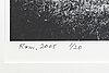Anders petersen, photo signed dated and numbered 1/20 2005.