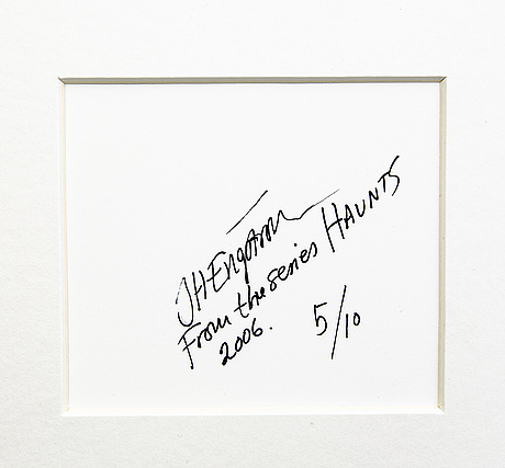 Jh engström, photo signed dated and numbered  2006 5/10.