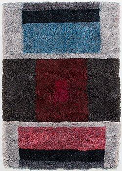 Katri Mattila, A Finnish long pile rug. Circa 165x115 cm.