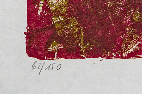 Theo tobiasse, lithograph in colours signed and numbered 62/150.