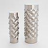 Two platinum dipped 'vibrations' porcelain vases, rosenthal studio-line.