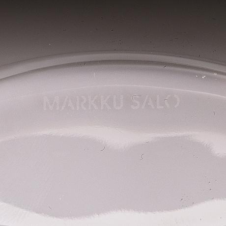 Markku salo, a set of three 'aava' glass vases for iittala.