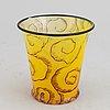 Simon gate, a graal glass vase, glassblower knut bergqvist, engraver heinrich wollman.  orrefors, sweden 1919, nr 7/1.