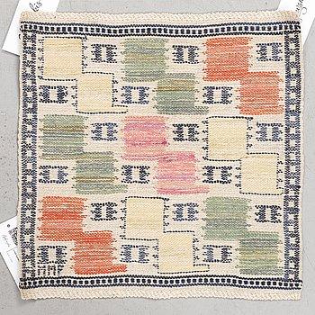"Märta Måås-Fjetterström, a textile, ""Lövendal"", flat weave, ca 38 x 38 cm, signed MMF."