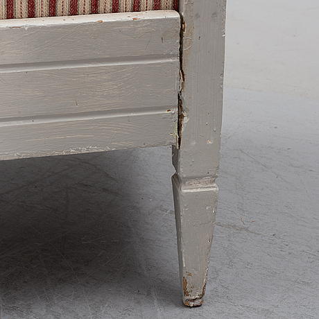 A painted gustavian style sofa, 19th century.