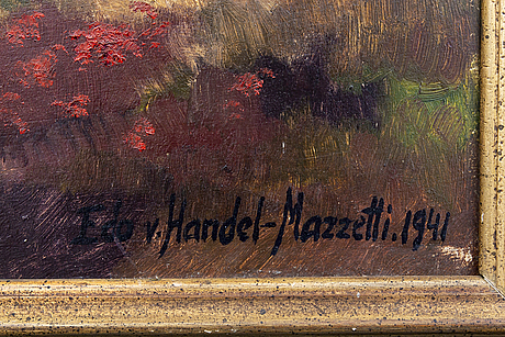 Eduard von handel-mazzetti, oil on panel signed and dated 1941.