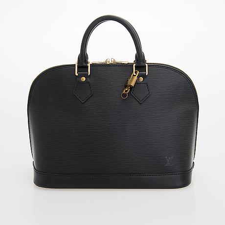 Louis vuitton, epi leather 'alma' bag.