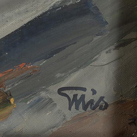 Bengt ellis, oil on canvas, signed.