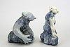 Åke holm, 4 ceramic figurines, höganäs, sweden.