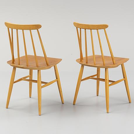 """Ilmari tapiovaara, stolar, 7 st """"fanett"""", edsbyverken."""