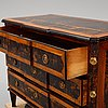 A late 18th century chest of drawers.