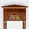 An empire mirror and console table, first half of the 19th century.