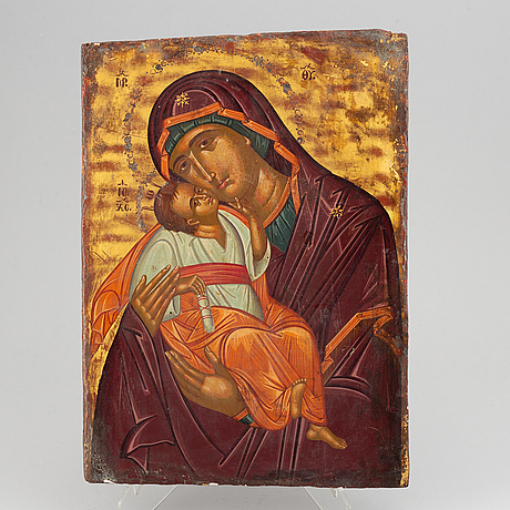 An icon, russia, 19th century, tempera on panel.