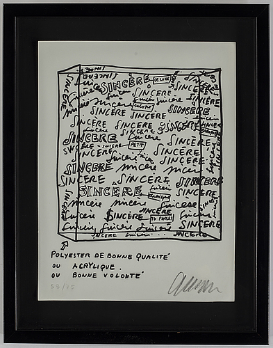 Fernandez arman, lithograph, signed and numbered 59/75.