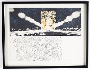 Christo & Jeanne-Claude, colour lithograph, signed and numbered E.A.