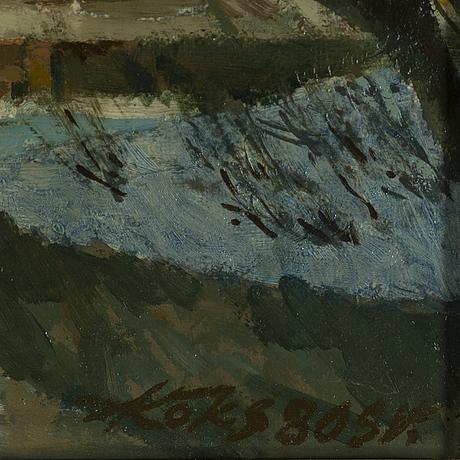Endel köks, oil on canvas, signed and dated -80.