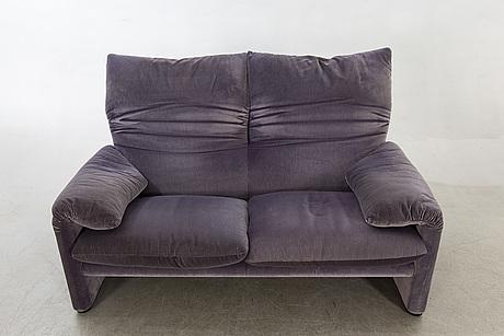 "Vico magistretti, soffa, ""maralunga"", cassina, italien, 2000-tal."