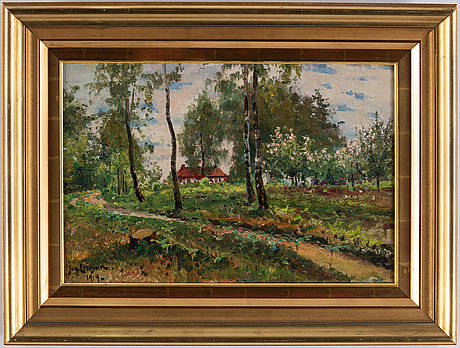 Johan ericson, oil on canvas, signed and dated 1919.