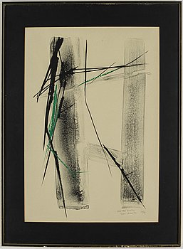 Toko Shinoda, lithograph, signed and numbered 19/25.