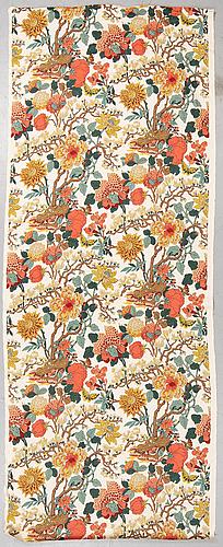 A linen 'magnolia' fabric, gp & j baker, england.