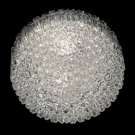 Helena tynell, glass ceiling light model a668 for glashütte limburg, germany 1960s-70s.