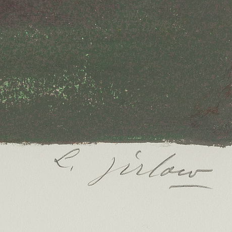 Lennart jirlow, kithograph in colours, 1988, signed 41/400.