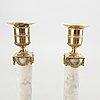Ljusstakar ett par sengustavianska 1800-talets början.