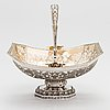 A russian, parcel-gilt silver swing handle basket, moscow 1834.