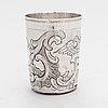 A russian 18th-century silver beaker, moscow 1778.