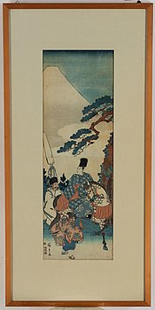 Utagawa Hiroshige (1797–1858), after, colour woodblock print, Japan, late 19th/early 20th century.