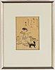 Suzuki harunobu (1724/25-70), after, a colour woodblock print, japan, late 19th/early 20th century.
