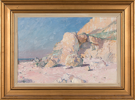 Alfred bergström, oil on canvas, signed.