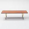 An italian rosewood veneered coffee table, 1950's/60's.