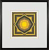 Victor vasarely, silkscreen in colour, signed and marked ea.