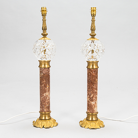 A pair of table lamps. modern manufacturing.