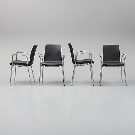 Jorge pensi, a set of 4 'gorka' chairs.