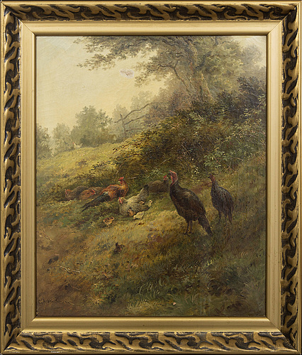 George hickin, oil on canvas signed.