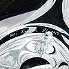 Kari alakoski, kostglas, signerad kari alakoski nj 2010.