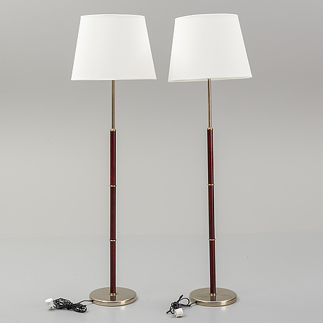 A pair of floor lamps, belid ab, late 20th century.