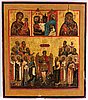 Icon, russia, earlu 19th century, tempera on panel.