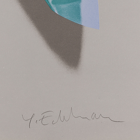Yrjö edelmann, lithograph in colours, signed 68/99.